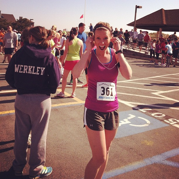 Emily Faherty runs Jersey Shore Relay Marathon