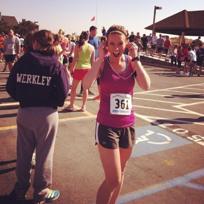 Emily Faherty runs Jersey Shore Relay Marathon